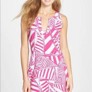Lilly Pulitzer Estrada pink white dress